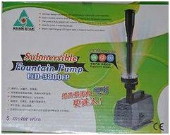 Asian star Pond LED Decoration Water Pump