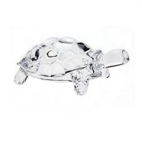 Crystal Glass Turtle Decoration