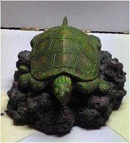 Turtle Air Bubbles Resin Ornament