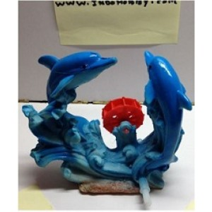 Two Dolphin Resin Ornament