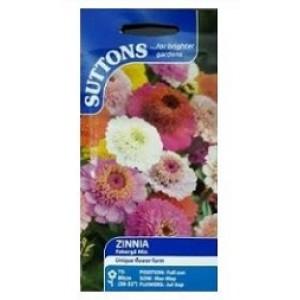 Suttons Zinnia Seeds