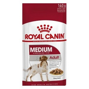 Ten PC Royal Canin Medium Adult Wet Pouch