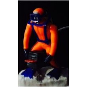 Underwater Diver Air Bubbles Resin Ornament